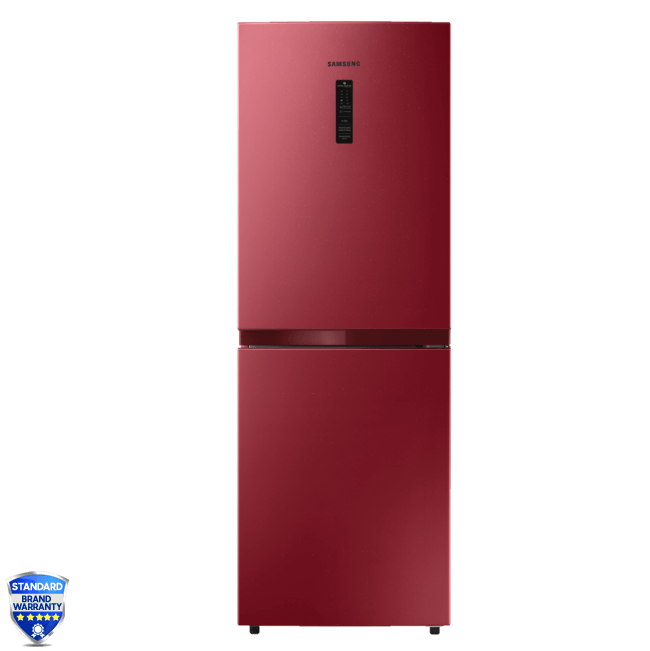 Samsung Bottom Mount Refrigerator | RB21KMFH5RH/D3 | 218 L-Red